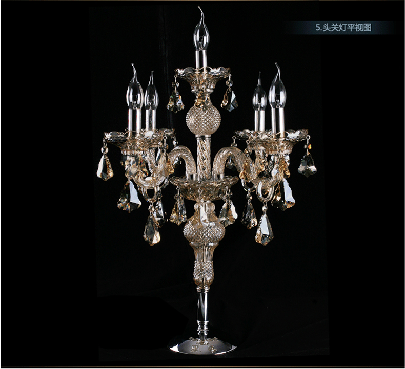 Free shipping Factory direct sale large candelabra lamp crystal table lamp desk Lamp big candle holder bedroom hotel table light tuda free shipping k9 crystal table lamp european style table lamp high level fabric shade table lamp fo bedroom hotel