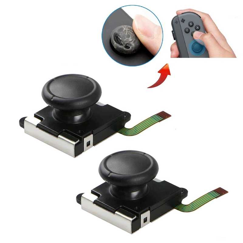 2-Pack 3D Аналоговый джойстик Joycon аналоговый джойстик для замены джойстика Joy Con контроллер Thumb Stick заменить (2-Pack)