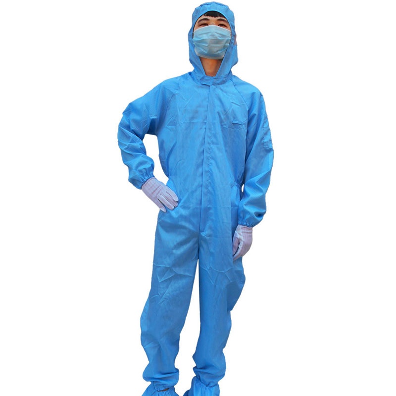 Anti-static Coverall Dust-free Clean Workshop Hooded Jumpsuit Dust-proof Overalls Protective Clothing One Jumpsuit 2020 New