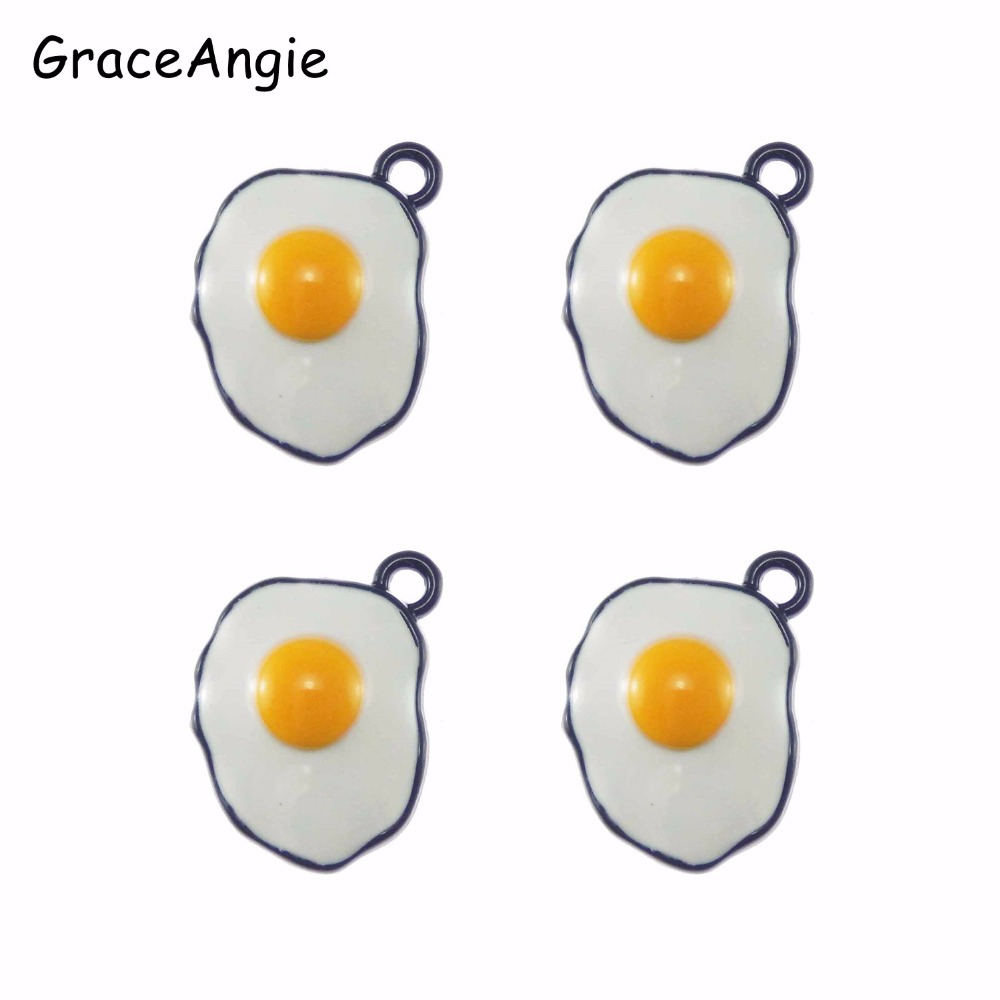 6pcs Enamel Egg Pan Pendant For Necklace Vintage Funy Metal DIY Women Men Jewelry Bronze Black Alloy Pendant Charms DIY Necklace