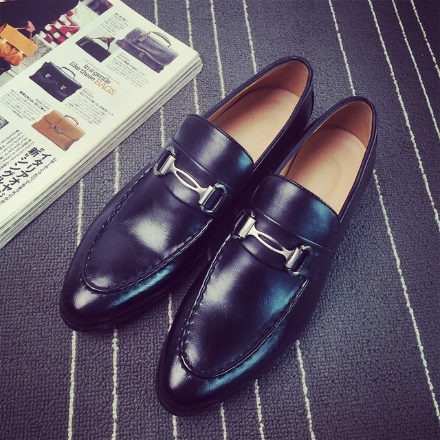 New Loafers Men Oxford Flat Shoes Top brand Men Moccasins Shoes Wedding Leather Men Shoes Casual zapatos hombre