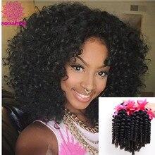 Malasia Afro Rizado Pelo Rizado 7A 100% Unproceessed Virgen Afro Rizado Armadura Del Pelo Rizado Malasio de La Onda Tissage Bresilienne Rizado
