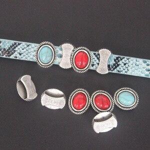 10 шт., Античные Серебристые бусины-разделители 10x2 мм для кожаных браслетов и браслетов, 10 мм