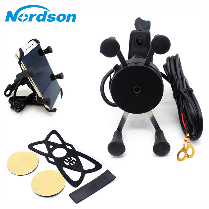 Motorcycle Phone Holder USB Charger Bike Mobile Motocross USB Charger Mobile Moto Phone Holder Stand Mount Bracket Waterproof