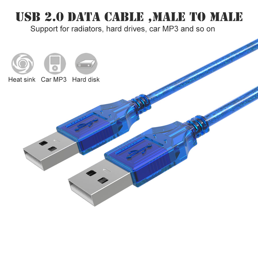 High Speed USB 2.0 Data Cable 0.3m 0.5m 1.5m Male To Male USB2.0 ...