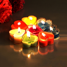 цены Heart Shaped Scented Candles Romantic Love Wedding Party Smokeless Sweet tealights candles valentine's day party decor