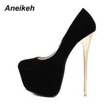 Aneikeh – escarpins Sexy de mariage pour femmes, chaussures fétiches pour femmes, en forme de Latform, très hauts talons, 16 cm, taille 44 45
