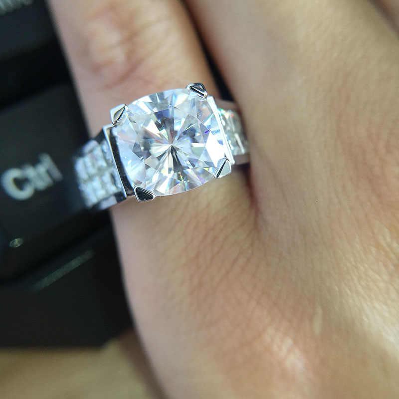 1 5 Carat Ct 7mm Cushion Cut Engagement Wedding Moissanite Diamond Ring Double Halo Ring Genuine 14k 585 White Gold