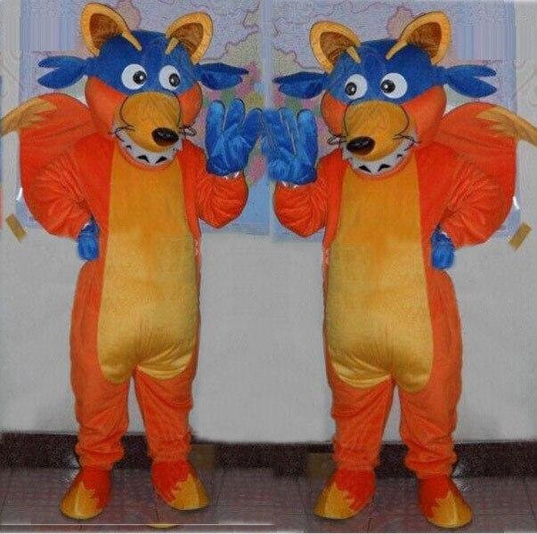 adult fox mascot costumes free shipping doras friend swiper fox mascot costumes for adults doras friend - Swiper Halloween Costume