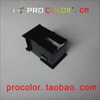 Caja de depósito de mantenimiento con uno virutas de tiempo larga t6711 welcolor cartucho de inyección de tinta para epson l1455 sistema de tanque de tinta de inyección de tinta de impresora
