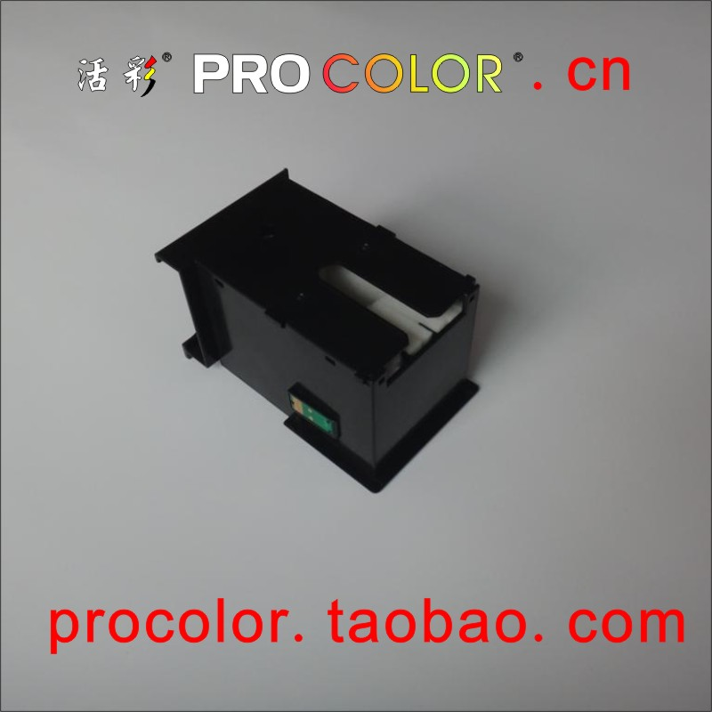 WELCOLOR T6711 maintenance tank box with one time chips inkjet cartridge for epson L1455 ink tank system inkjet printer 6711 maintenance tank for epson workforce wf3620dwf wf3520 wf3640dtwf printer tank