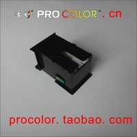 WELCOLOR T6711 maintenance tank box with one time chips inkjet cartridge for epson L1455 ink tank system inkjet printer