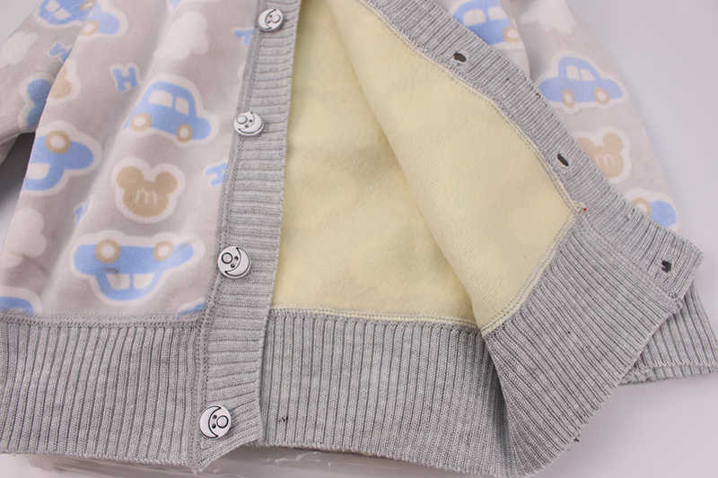 Lente Baby Meisjes Truien Peuter Jongens Fluwelen Vest Trui Kinderen Warme 3D Cartoon Bovenkleding Baby Trui Winter Kleding