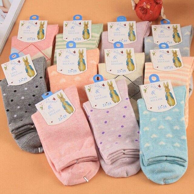 2016 Calcetines Mujer 5 Стили Новая Мода Носки Женщины 10 пары 20 Шт. Высокое Качество Хлопка Для Леди Casual оптовая