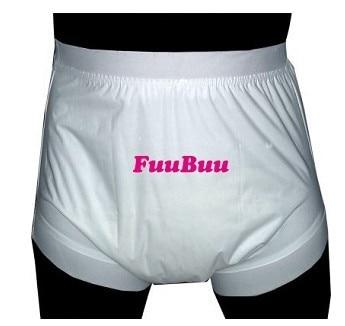 Free Shipping FuuBuu2208-WHITE-XXL Wide Elastic Pants/Adult Diaper/incontinence Pants /Pocket Diapers/Wasserdichte,atmungsaktive