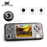 DATA FROG Upgraded Version Retro Handheld Game Console 64Bit 16GB 3.0Inch Built in 3000 Classic Games Support For NEOGEO/CP1/CP2