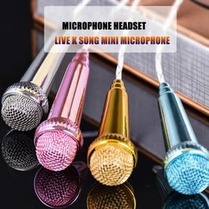 Image 2 - Para o iphone Android Todos Os Smartphones Notebook Portátil Mini Microfone Karaoke Gravação de Som Estéreo Plugue de 3.5mm