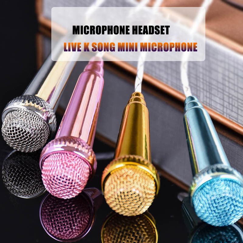 Image 2 - for iPhone Android All Smartphone Notebook Portable Mini Microphone Stereo Karaoke Sound Record 3.5mm Plug-in Microphones from Consumer Electronics