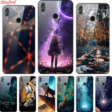 Honor 8x Case For Huawei 8X 6.5 Luxury Tempered Glass Hard PC Back Cover for Coque 8 X TPU Frame