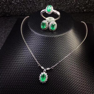 Image 4 - Модное ожерелье из серебра 925 пробы с натуральными бриллиантами