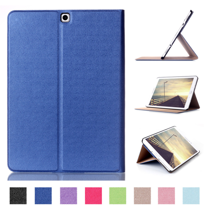 Tab S 2 9.7 Smart Cover Case Touch Series Triple Folding Flip PU Leather Case For Samsung Galaxy Tab S2 9.7 T810 T815 Tablet PC