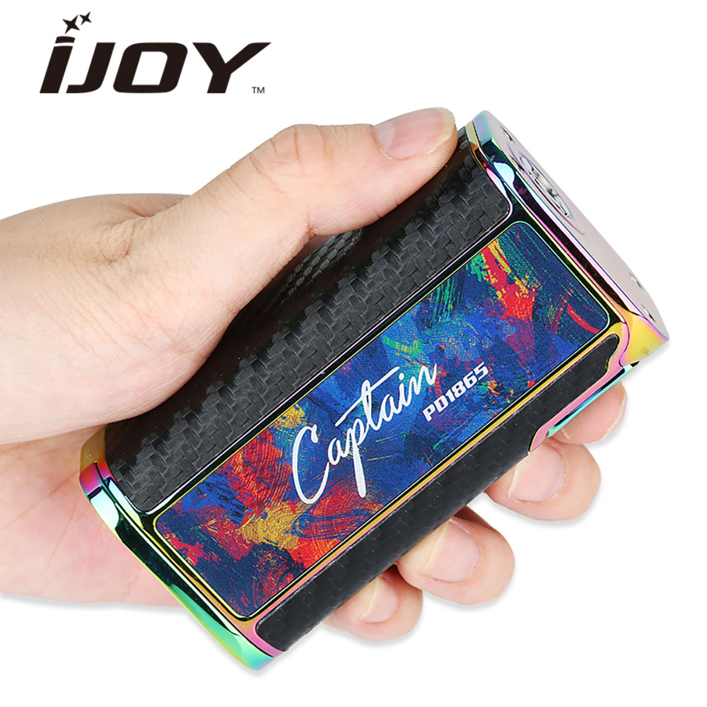 Original 225W IJOY Captain PD1865 TC Box MOD 0.96 Inch Big OLED Mod for RDTA 5S / Wondervape RDA Atomizer Electronic Cigarette original ijoy captain pd1865 with wondervape rda tc kit bottom airflow rda tank 225w captain pd1865 box mod e cig huge vape kit
