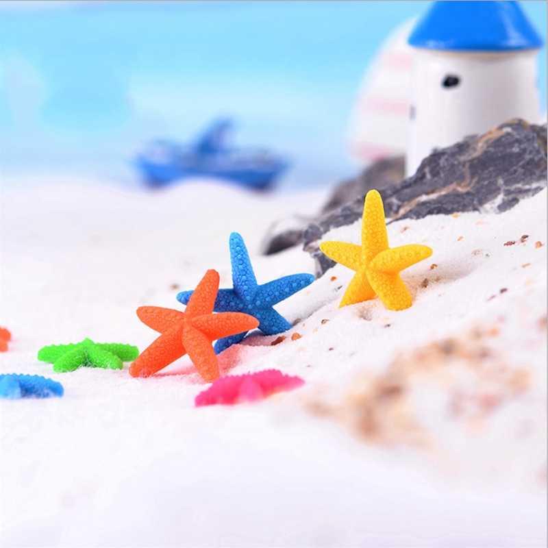 5pcs Fish Tank Artificial Colorful Starfish Decoration Aquarium Ornaments Resin-m15