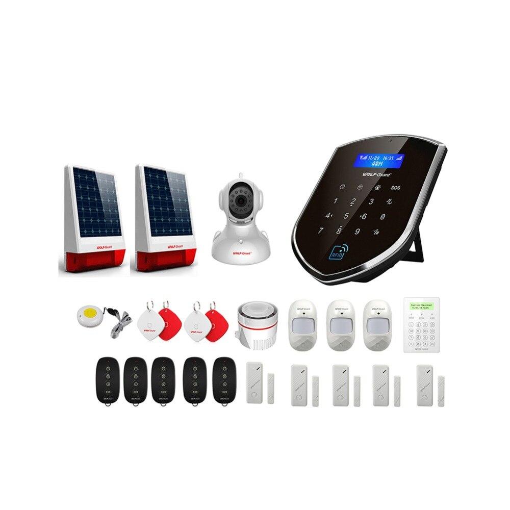 Wolf-Guard WM2GR GSM Wifi système d'alarme de sécurité domestique sans fil kit de bricolage APP contrôle détecteur de mouvement capteur système d'alarme antivol