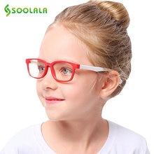 SOOLALA – lunettes Anti-lumière bleue pour enfants, 2 pièces, monture optique en Silicone, pour garçons et filles, verres Anti-lumière bleue pour ordinateur, UV400