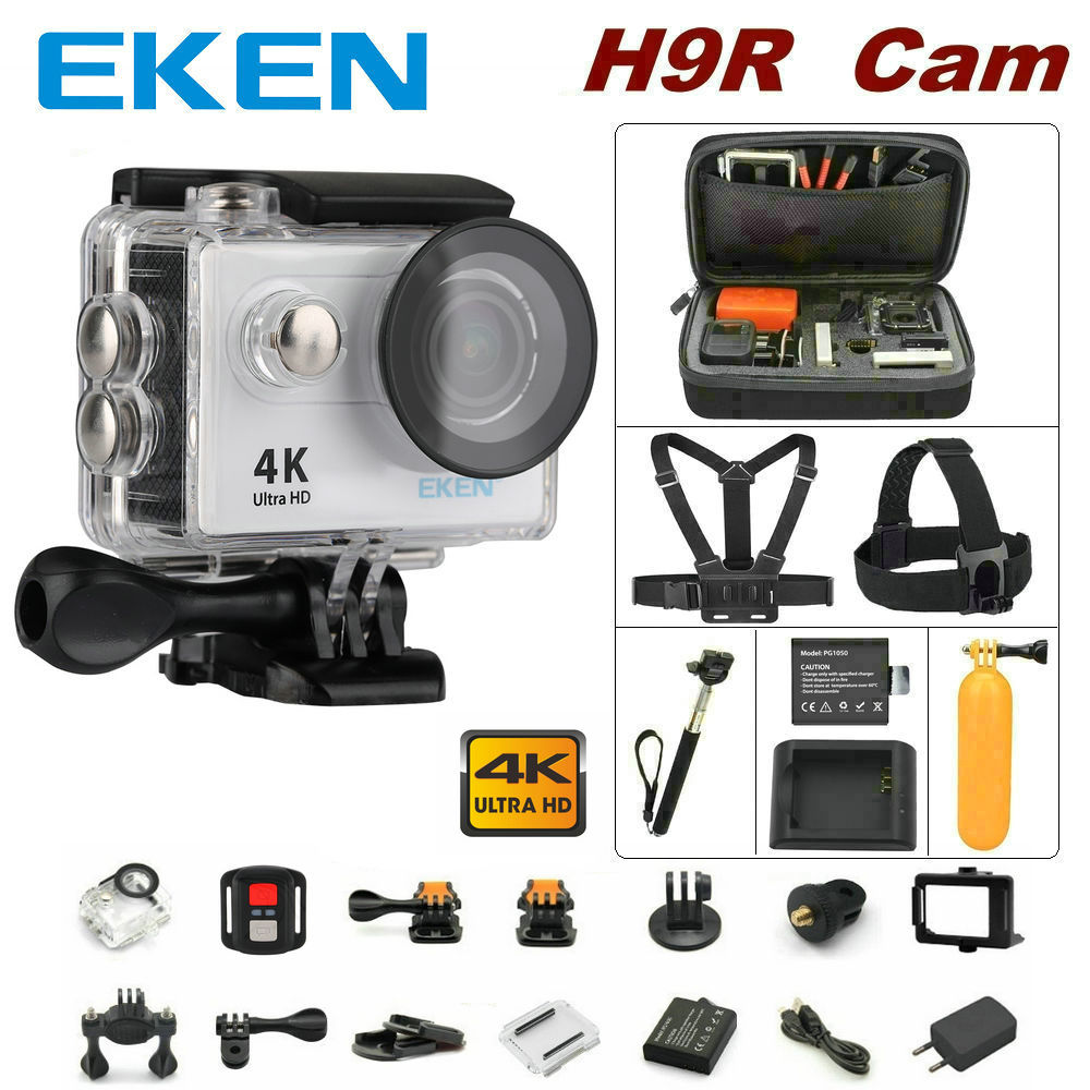 100% Original EKEN H9R remote control camera 4K wifi Ultra HD 1080p 60fps 170D waterproof camera sports mini cam 100% original eken h9r 4k ultra hd wifi action camera remote control go waterproof camera 2 0 1080p 60fps pro sportcam mini cam