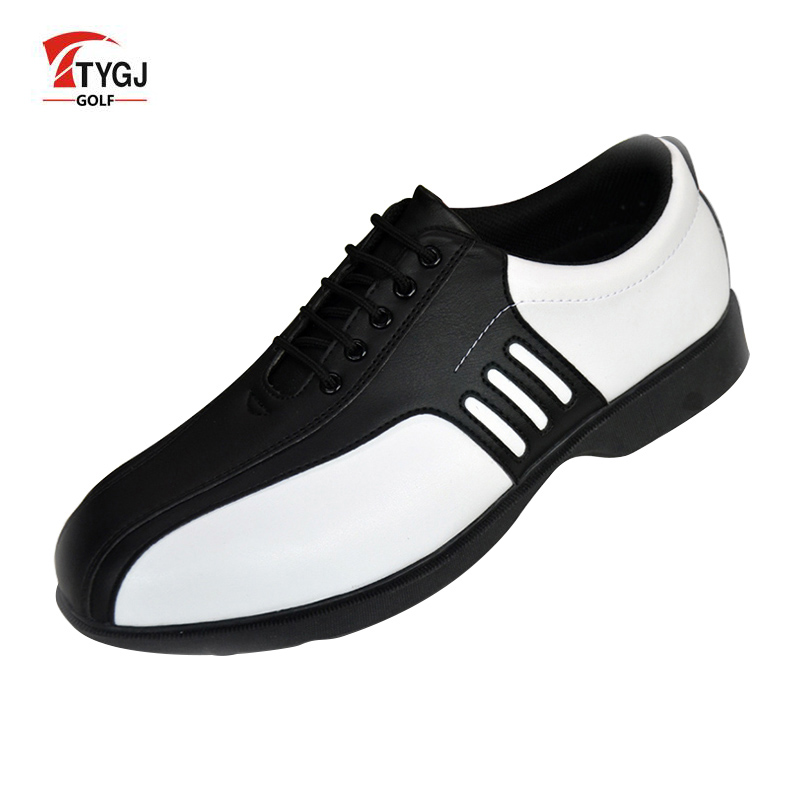 TTYGJ Golf Shoes Men Waterproof Leather Shoes Zapatos De Mujer Sneakers On a Platform Golf Hombre Free Shipping free shipping dbaihuk golf clothing bags shoes bag double shoulder men s golf apparel bag