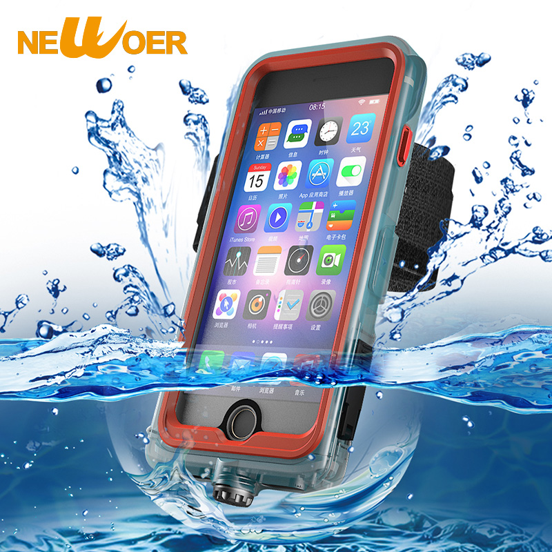 Waterproof Case For iPhone 7 Plus Snowproof Shockproof Cover Arm Band Outdoor Underwater Diving Phone Case