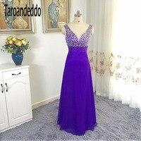V образным вырезом AB Красочные Бисер Онлайн фиолетовый платье подружки невесты Длинные Дешевые платье под 100 платье Vestido De formatura Лонго