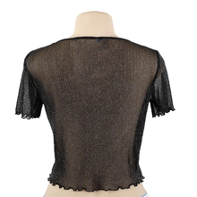 OOTN Knitted Mesh Top T-Shirt for Women