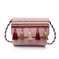 Национальный Для женщин небольшой площади сумка модная женская сумка-мессенджер сумка Boho Crossbody Сумочка Сумка Кошелек кисточкой пеньковая в...