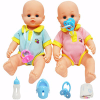 38CM Doll for girl Reborn baby Bath wash toy blue pink Lifelike kids baby Pretend Play House toy gift box