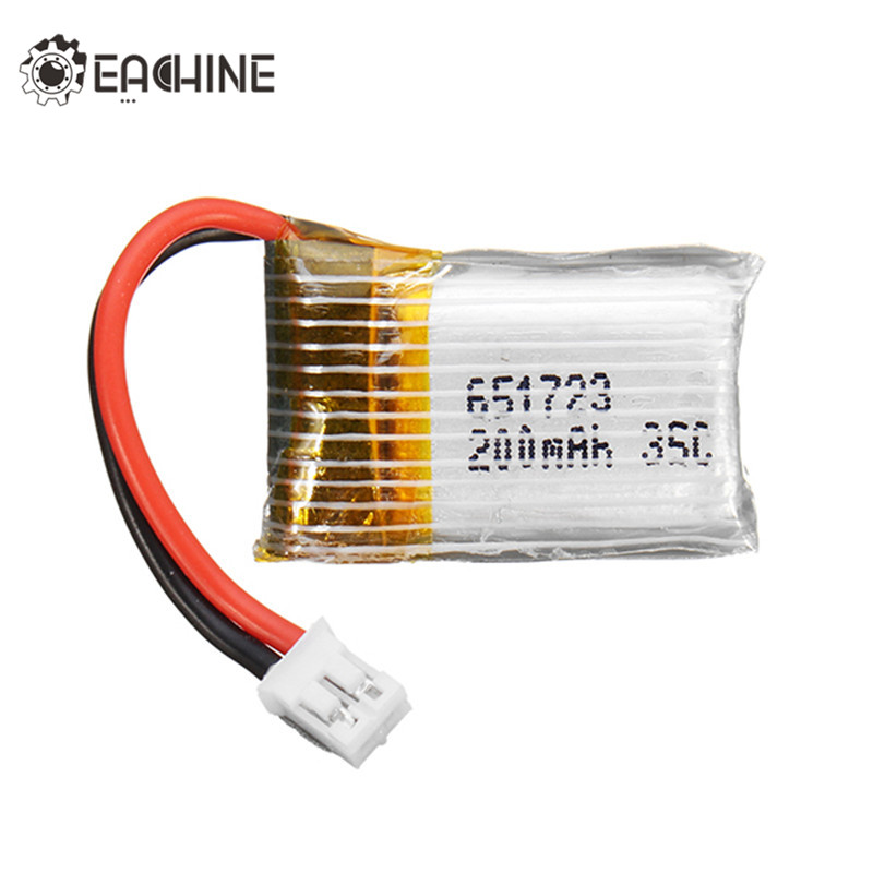 Eachine E010 E010C E011 E011C E013 RC Quadcopter 3.7V 200mAh 35C Lipo Battery For RC FPV Racing Drone Spare Parts 5pcs eachine e010 e010c e011 e011c e013