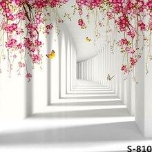 Dos desenhos animados 3D Borboleta Parede Branca Fotografia Fundos Computador impresso backdrops parede Vinil pano de Alta qualidade