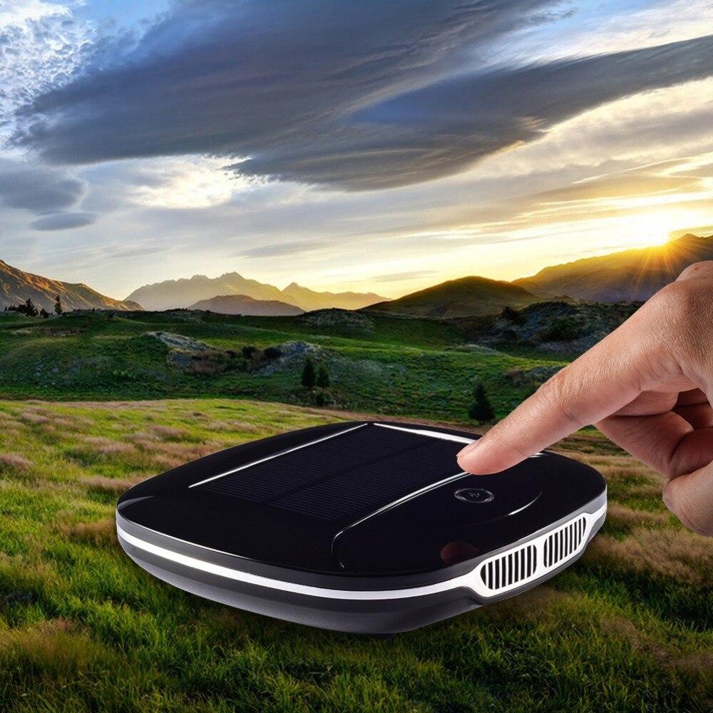Date Énergie Solaire Voiture purificateur d'air Utilisation De la Voiture Ioniseur purificateur d'air Anion Freshner PM2.5 UFO Forme Pas de Bruit Haute Vitesse Purifier