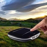Newest Solar Energy Car Air Purifier Car Use Ionizer Air Cleaner Anion Freshner PM2.5 UFO Shape No Noise High Speed Purify