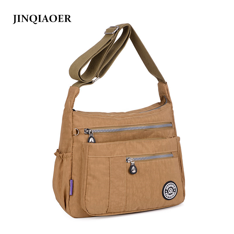 JINQIAOER 11 Colors Women Messenger Bag Waterproof Nylon Crossbody Shoulder Bags Fashion Ladies Handbags bolsa feminina jinqiaoer woman nylon bag women messenger bags for women handbags shoulder bag large capacity stroller bag bolsa feminina wh392