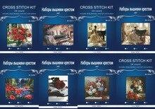 54*54 CM, Blumen 14CT JCS Kostenloser Versand Top Qualität Kreuzstich Kreuzstich Kits für Stickerei Home Decor Hand