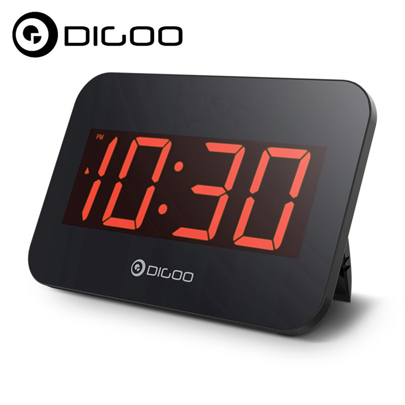 Digoo DG-K4 LED Multifunctional Time Snooze Automatically Electronical Digital Alarm Clock With Backlit Large LED Display
