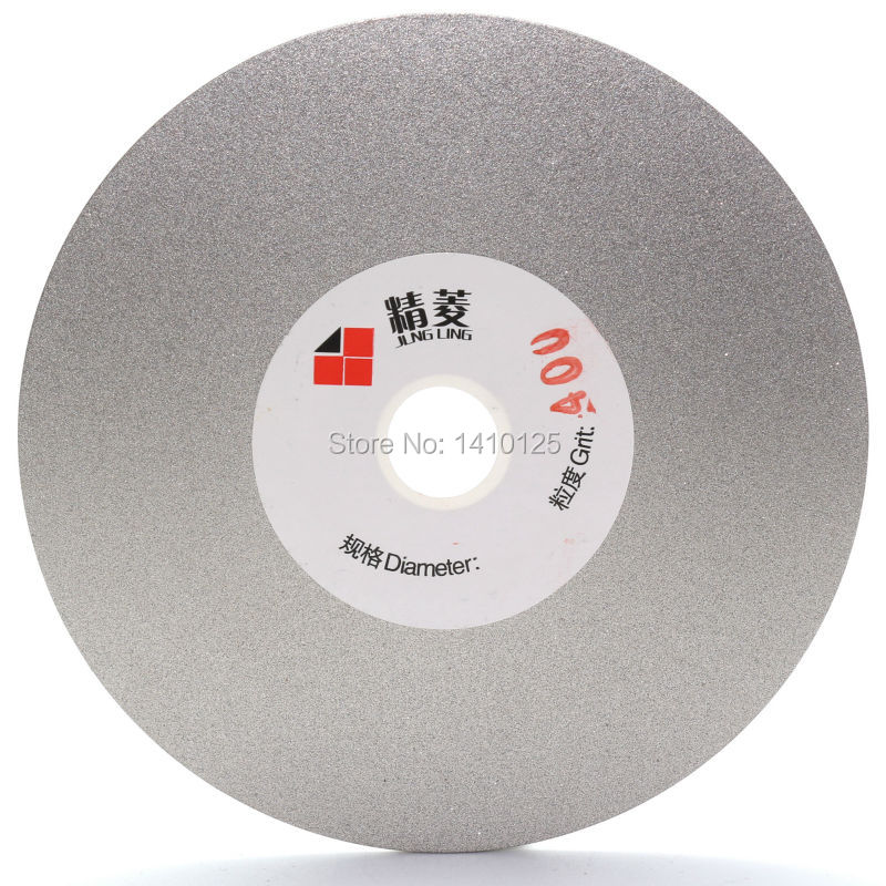 4 inch Grit 400 Fine Diamond Grinding Disc Wheel Coated Flat Lap Disk Lapidary Tools for Sharpening Diamond Blades Gemstone 100mm cylinder diamond grinding head coated cylindrical burr bit mounted points shank 8mm lapidary tools for stone gemstone jade