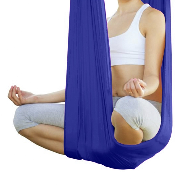 Medium image of 5m elastic anti gravity multifunctional fly aerial yoga hammock swing belt fabric aerial traction device