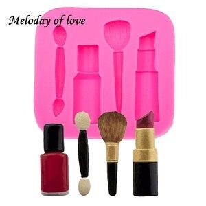 Image 1 - Molde de silicone para maquiagem, ferramentas de maquiagem para diy, esmalte, chocolate, festa, fondant, ferramentas de decoração de bolo, sobremesa, t0075