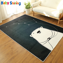 Baby Shining Cartoon Baby Play Mat 0.5CM Thickness Carpet 140X200CM Children's Room Playmat Short Plush Non-slip Bedroom Mat
