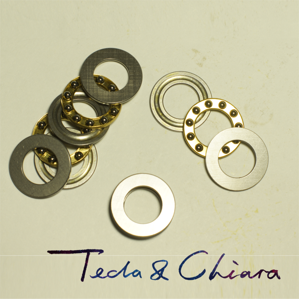1Pc / 1Piece F12-21M 12 X 21 X 5 Mm Axial Ball Thrust Bearing 3-Parts * 3-in-1 Plane High Quality