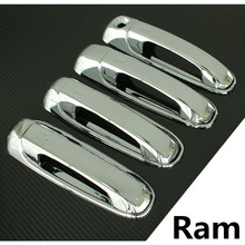 XYIVYG For Dodge Ram Chrome Triple Plated 4 Door Handle W/O Passenger Keyhole Cover 05-10 Dakota 04-10 Durango For Jeep Liberty