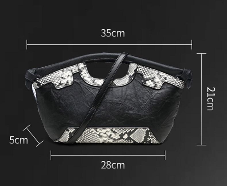 Dame prave kože Retro torbu Luksuzni Žene torba Serpentine Večer - Torbe - Foto 2